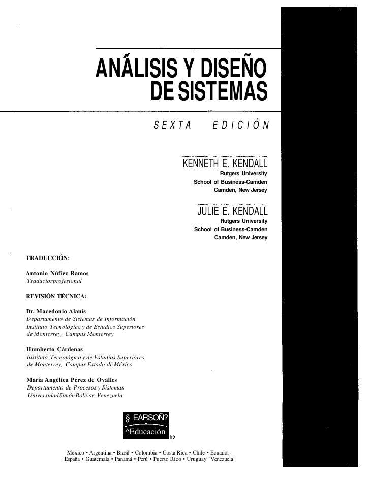 Analisis y Diseño de Sistemas - Kendal & Kendal - Sexta Edición