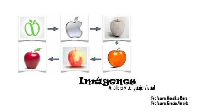 Imágenes Análisis y Lenguaje Visual Profesora: Norelkis Riera Profesora: Grecia Almeida