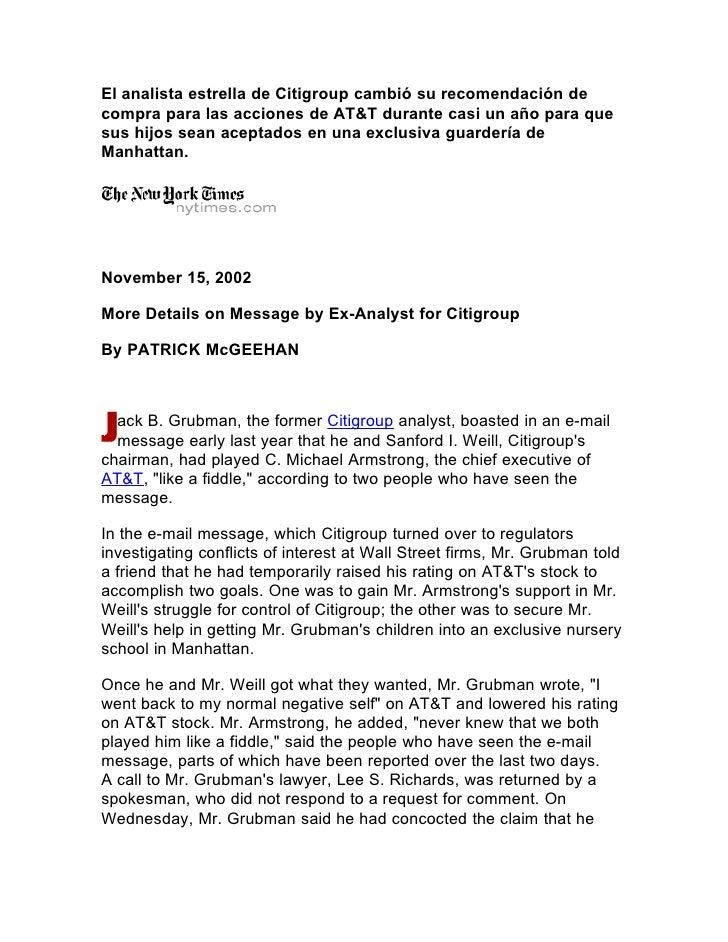 El analista estrella de Citigroup cambió su recomendación de compra para las acciones de AT&T durante casi un año para que...