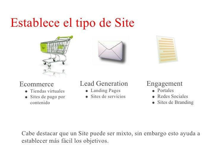 Establece objetivos     Ecommerce              Lead Generation         Engagement    Incrementar ventas      Incrementar  ...