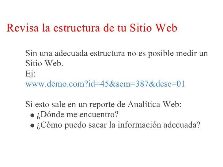 Revisa la estructura de tu Sitio Web    En cambio:    www.demo.com/mujer/zapatos/zapatos-con-taco        Me dice perfectam...