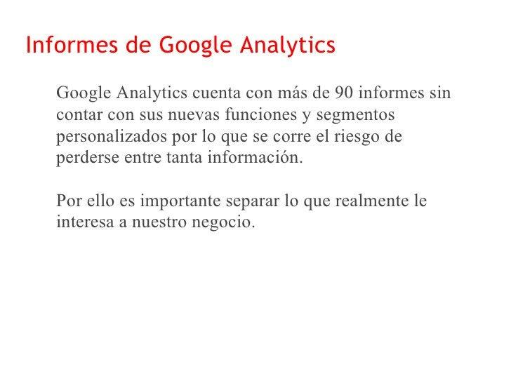 Informes de Google Analytics                                    Dashboard