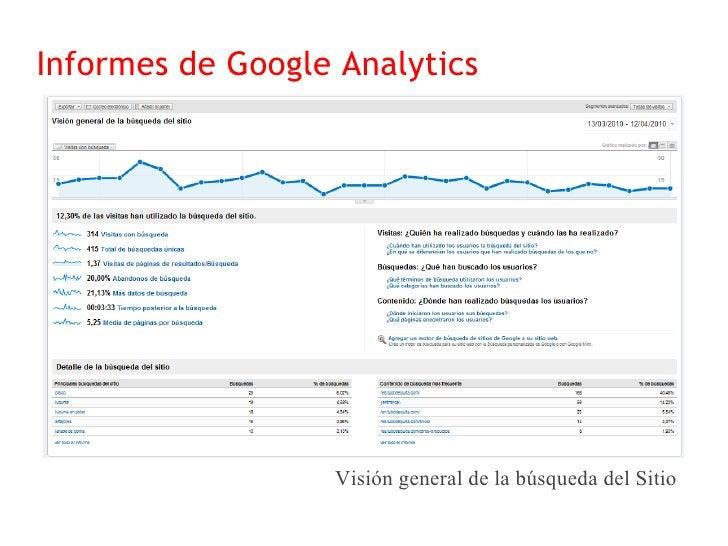 Informes de Google Analytics                      Visión general de seguimiento de eventos