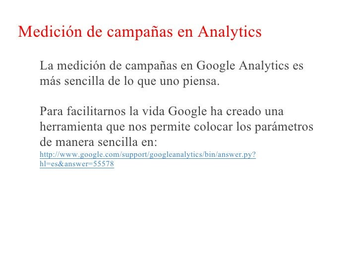 Medición de campañas en Analytics