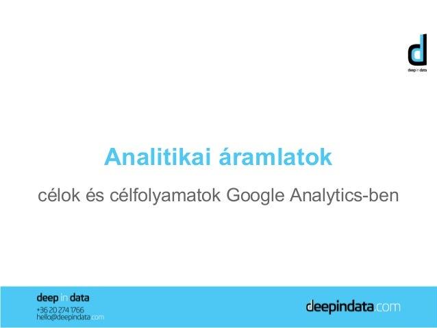 Analitikai áramlatokcélok és célfolyamatok Google Analytics-ben