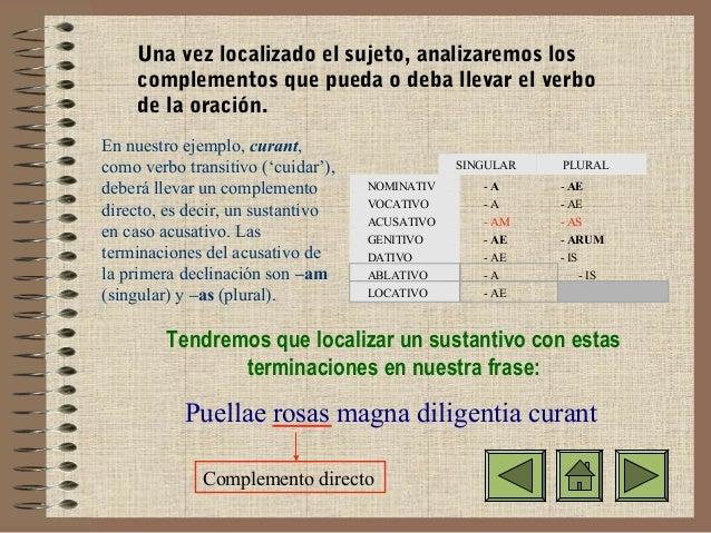 como analizar una oracion en latin