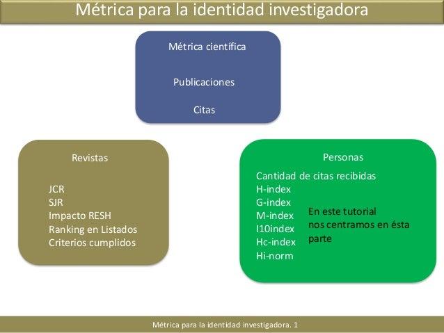 Identidad digital para investigadores. H-index y otros indices. Scival Strata Slide 2