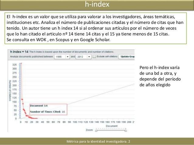 Identidad digital para investigadores. H-index y otros indices. Scival Strata Slide 3
