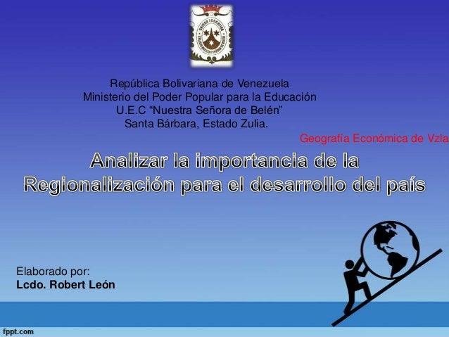 """República Bolivariana de VenezuelaMinisterio del Poder Popular para la EducaciónU.E.C """"Nuestra Señora de Belén""""Santa Bárba..."""