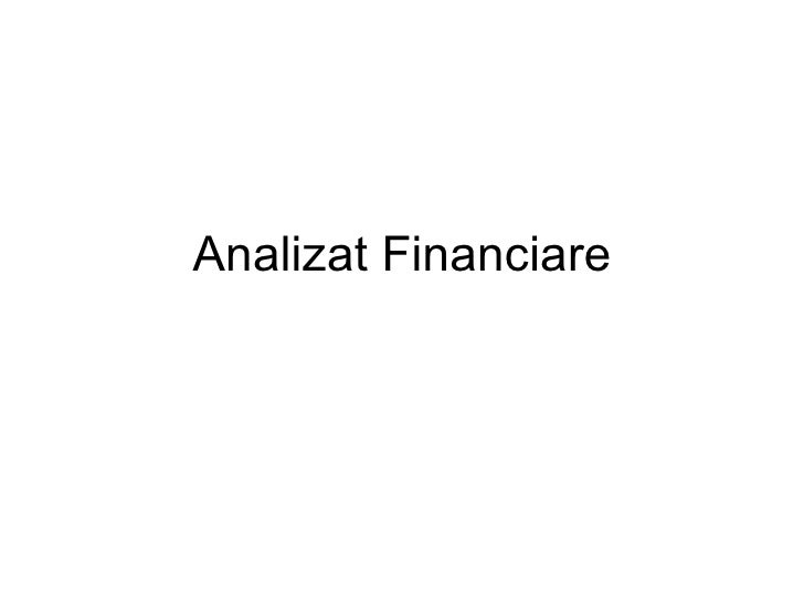 Analizat Financiare