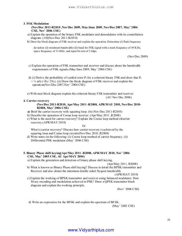 Analog and digital munication 2 marks