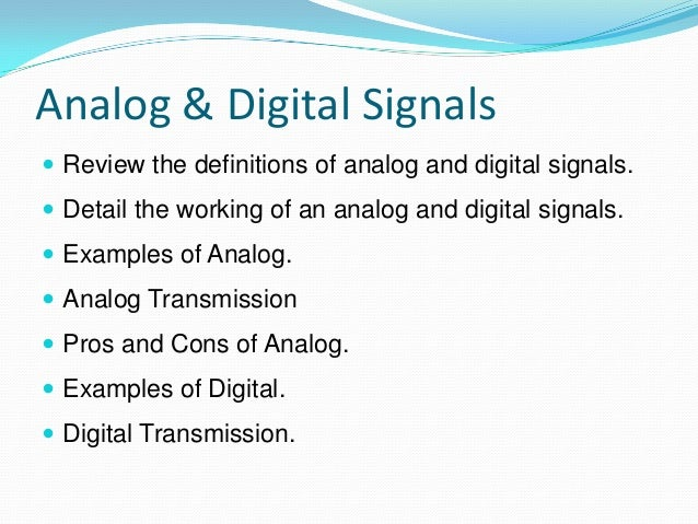 difference between digital and analog signals The difference between analog signal and digital signal is that an analog signal is a continuous time signal while a digital signal is a discrete time signal in brief, digital signals are more reliable and have a fast rate of transmission than the analog signals.