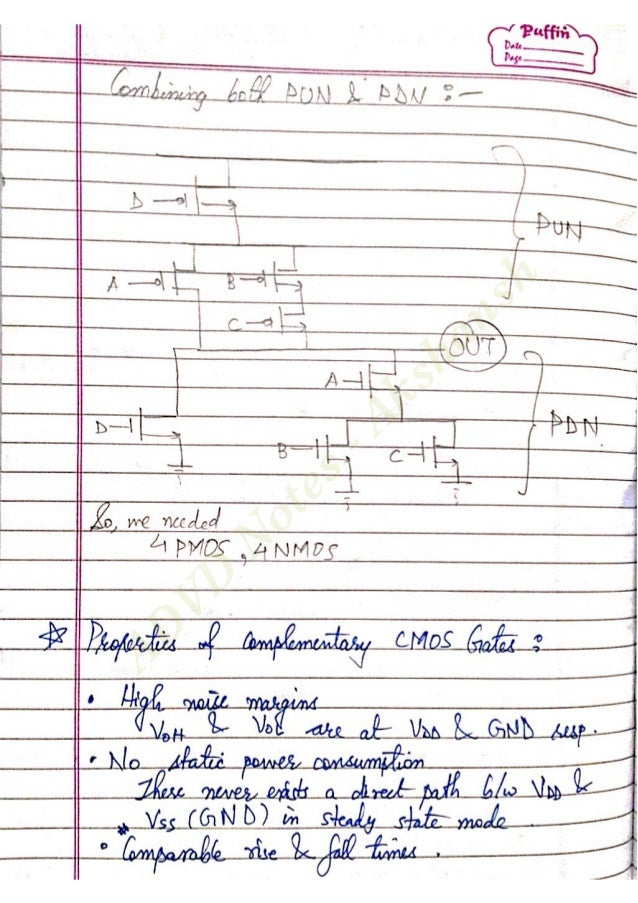 Analog and Digital VLSI Design Notes - Akshansh