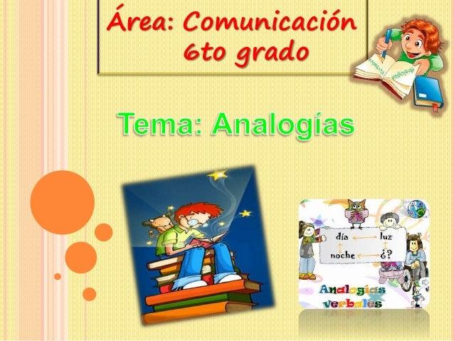 Área: Comunicación  6to grado