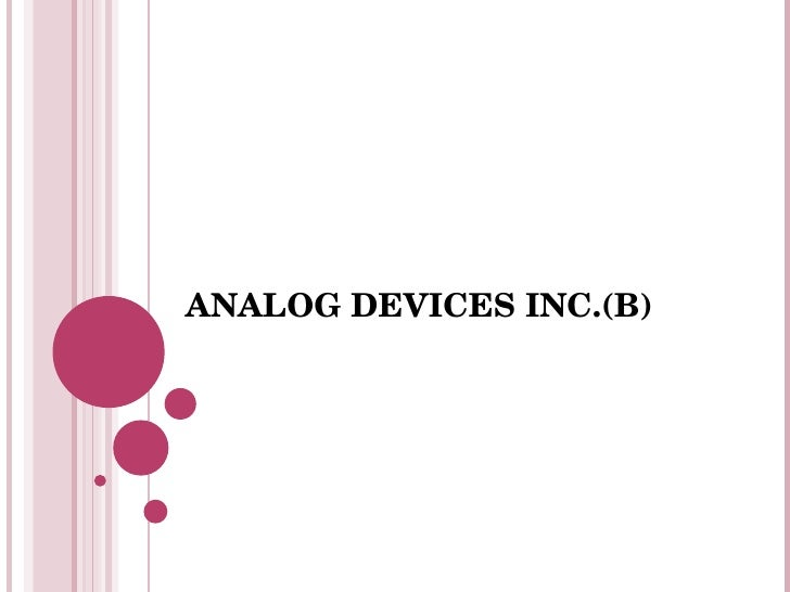 ANALOG DEVICES INC.(B)
