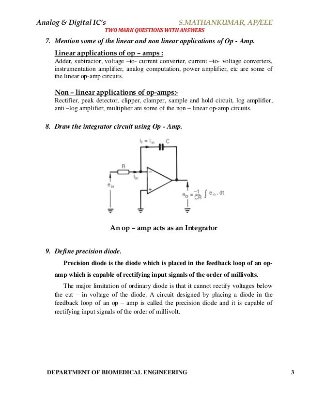 Circuits pdf integrated bakshi linear by