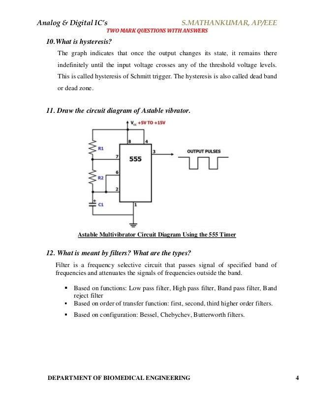 Analog & Digital Integrated Circuits - Material (Short Answers)