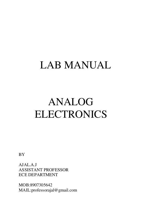 analog electronics lab manual rh slideshare net Electronic Project Lab analog electronics lab manual 4th sem rtu