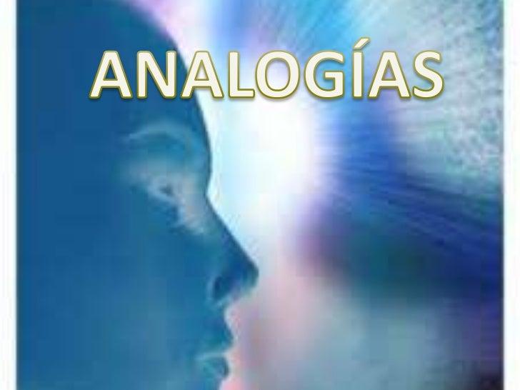 ANALOGÍAS<br />