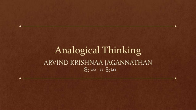 Analogical Thinking            5