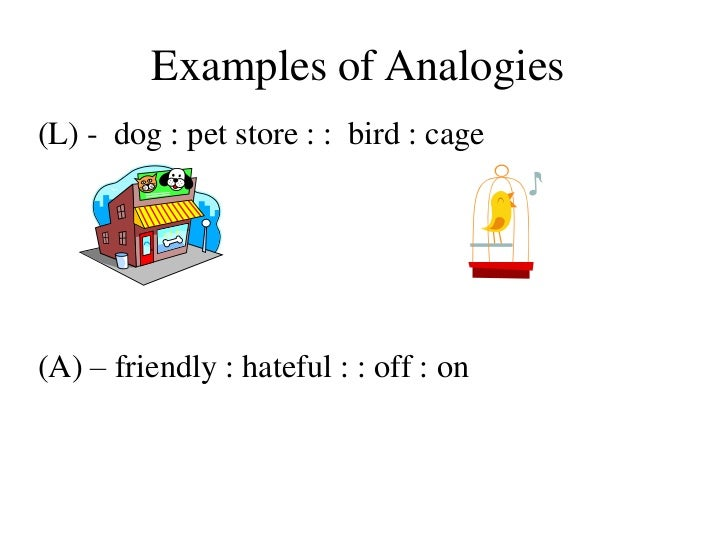 examples of analogiesl - Example Of Analogy Essay