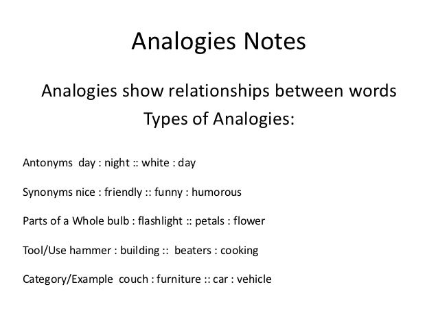Dating analogies