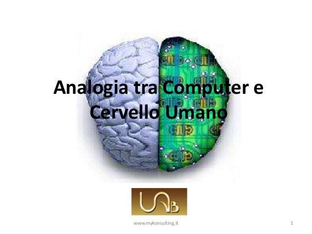 Analogia tra Computer e Cervello Umano 1www.mykonsulting.it
