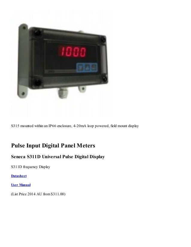 Panel Mount 4 20 Ma Digital Indicator : Analog input digital panel meters
