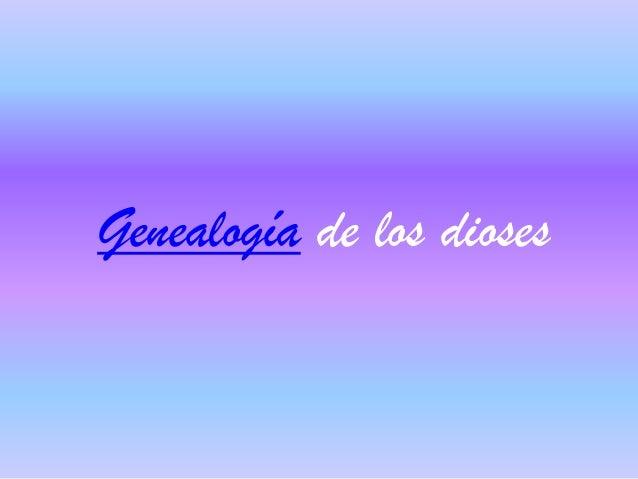 Genealogía de los dioses