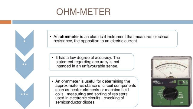 Using An Ohmmeter : Analog multimeter and ohmmeter