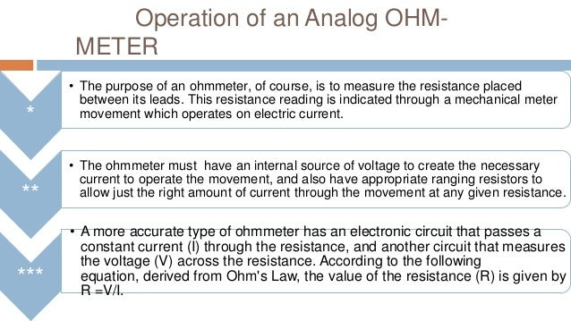 Reading An Ohmmeter : Analog multimeter and ohmmeter