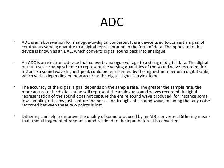 Analogue & Digital