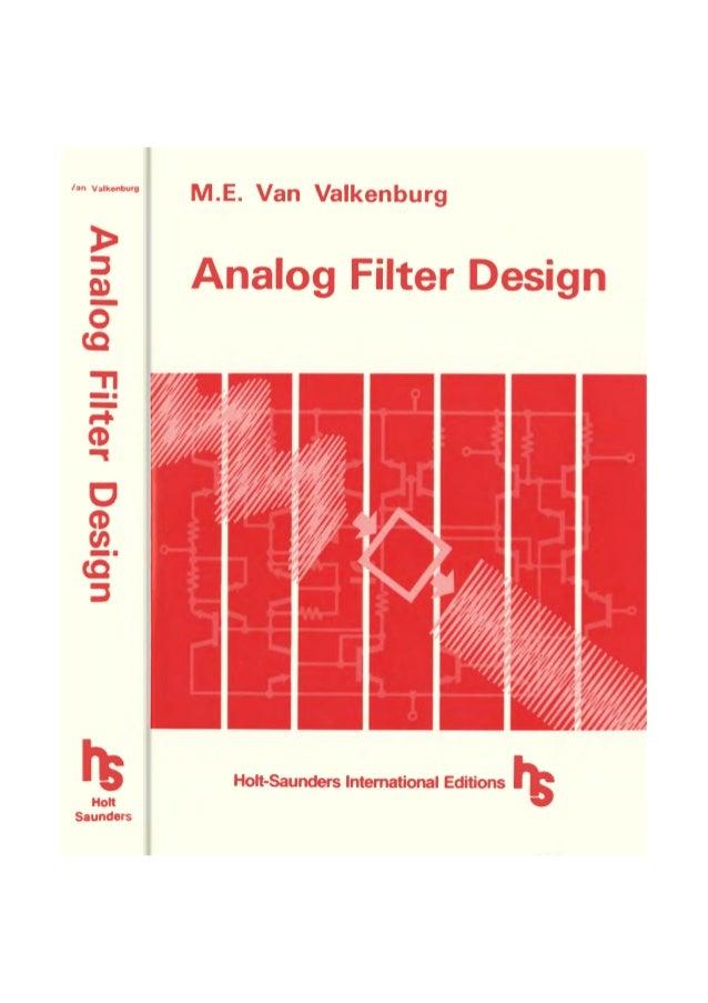 Analogue filter design van valkenburg