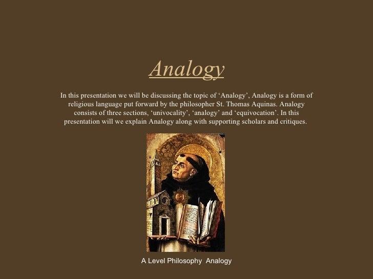 Analogy Religious Language