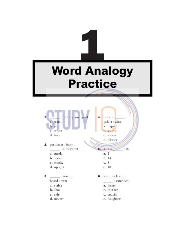 500 Analogy practice questions by studyIQ coaching center
