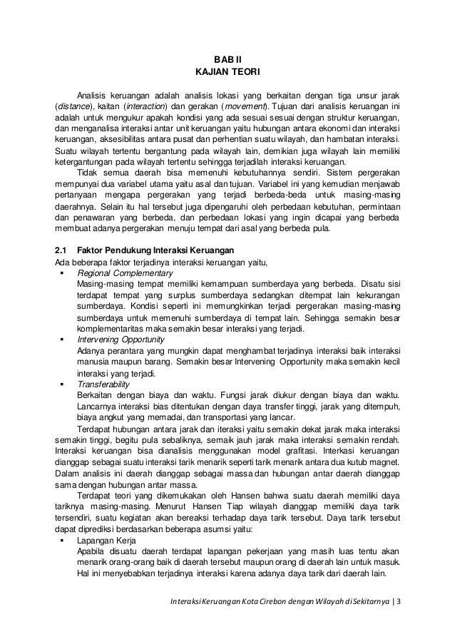 Sebutkan Contoh Interaksi Keruangan Antar Wilayah Di Indonesia Sebutkan Itu