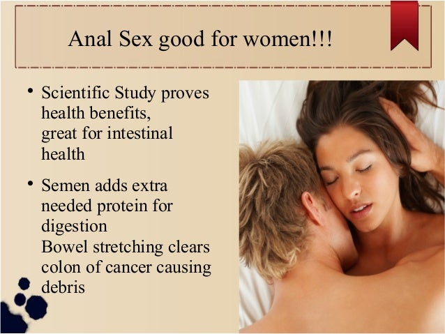 Good things about anal sex