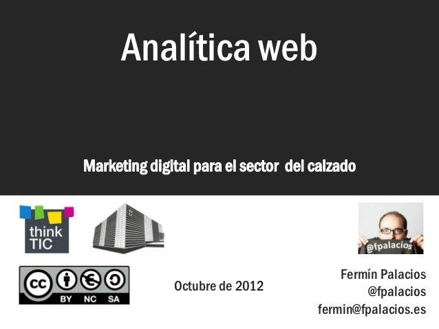 Analítica web                      Analítica web                Marketing digital para el sector del calzado              ...