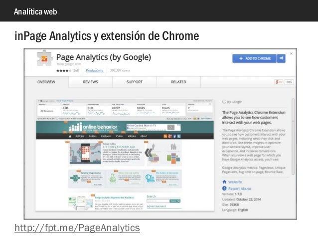 Analítica web inPage Analytics y extensión de Chrome http://fpt.me/PageAnalytics