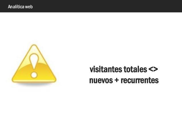 Analítica web visitantes totales <> nuevos + recurrentes