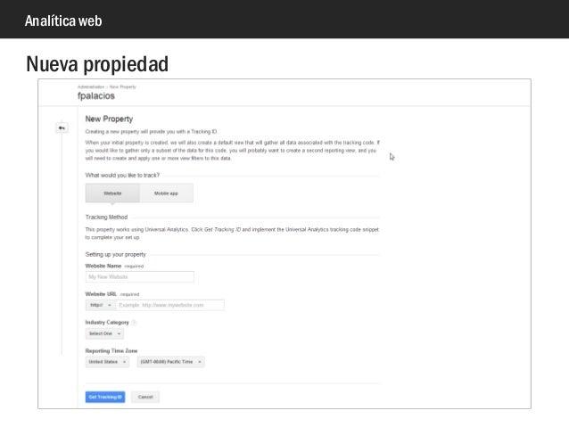 Analítica web Nueva propiedad