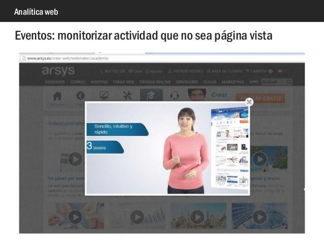 Analítica web Eventos: monitorizar actividad que no sea página vista