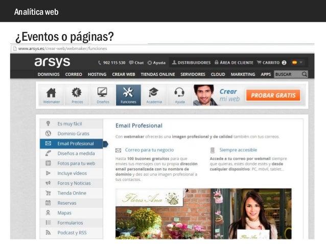 Analítica web ¿Eventos o páginas?