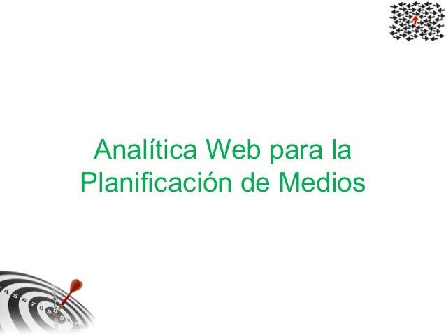Analítica Web para la Planificación de Medios