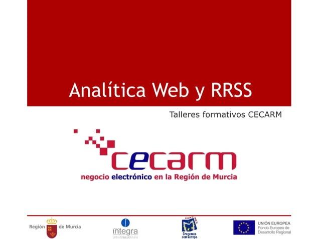 Analítica Web y RRSS Talleres formativos CECARM