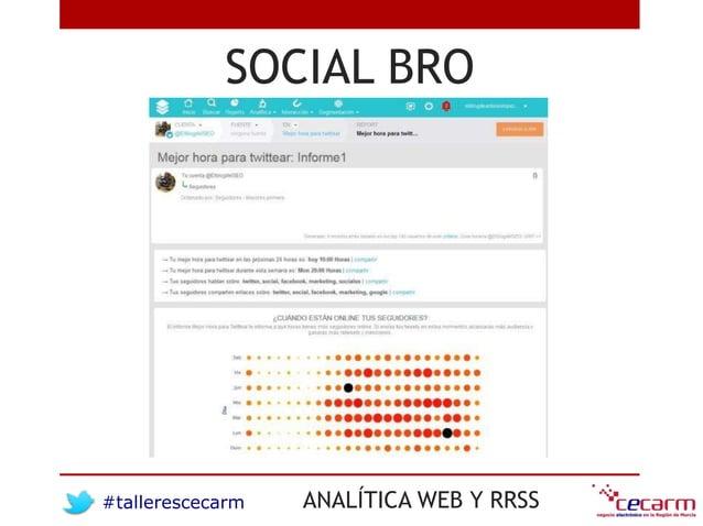 #tallerescecarm ANALÍTICA WEB Y RRSS SOCIAL BRO