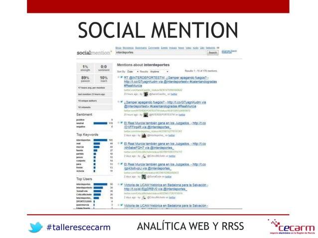 #tallerescecarm ANALÍTICA WEB Y RRSS SOCIAL MENTION