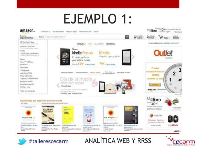 #tallerescecarm ANALÍTICA WEB Y RRSS EJEMPLO 1: