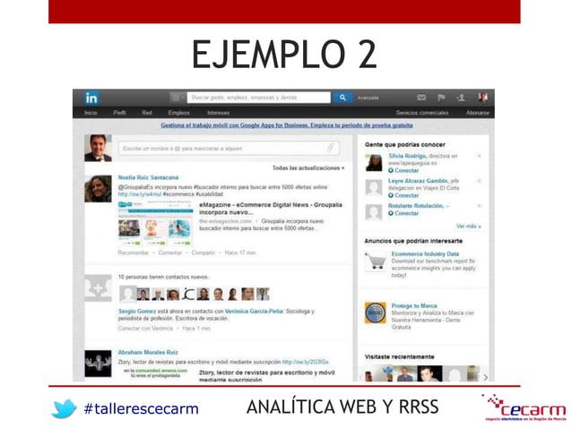 #tallerescecarm ANALÍTICA WEB Y RRSS EJEMPLO 2
