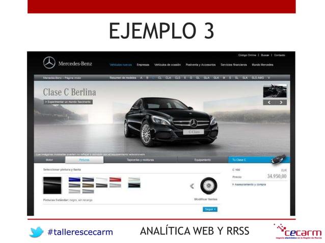 #tallerescecarm ANALÍTICA WEB Y RRSS EJEMPLO 3